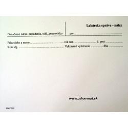 Lekárska správa nález A5 list
