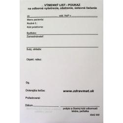 Výmenný list - poukaz A6 blok, 100 listov