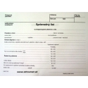 Sprievodný list na rtg. vyšetrenie - A5 dvojlist