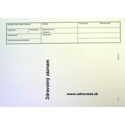 Zdravotný záznam - A4 dvojlist