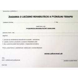 Žiadanka o liečebnú rehabilitáciu a fyzikálnu terapiu - A5
