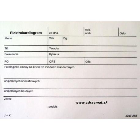 EKG nález - A6 blok 2x50 list