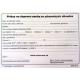 Príkaz na dopravu osoby zo zdravotných dôvodov - A6 blok