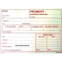 Príjmový pokladničný doklad A6 s DPH - 100 listov, recyklovaný