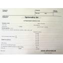 Sprievodný list na RTG vyšetrenie - A5 dvojlist, recyklovaný papier