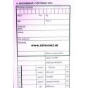 01 - Biochemické vyš. krvi - 80x300 mm 100 list., recykl. papier