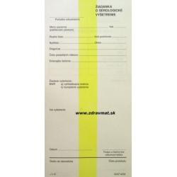 Žiadanka o sérologické vyšetrenie - 210x100 mm list