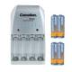 Nabíjačka batérií k tlakomerom BC-0902 +4ks extra silné AA