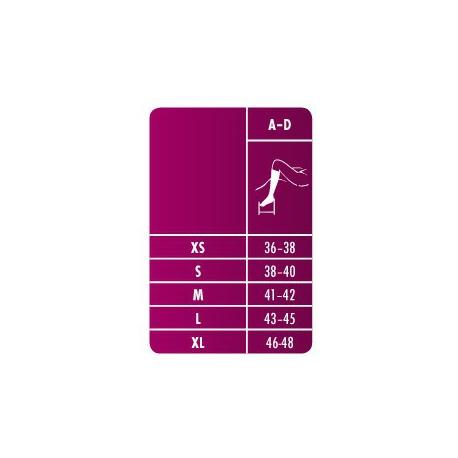 Relax 150 DEN / 280 DEN rozmerová tabuľka