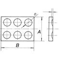 Porcelánová platňa s jamkami - priemer jamky 17mm