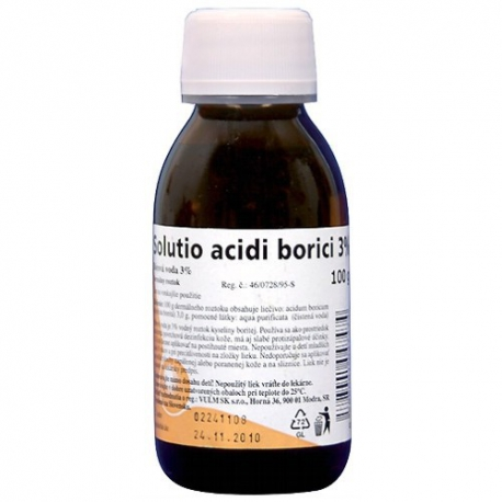 Bórová voda - Solutio acidi borici 3% 100g