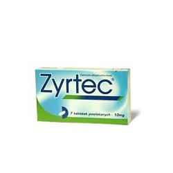 Zyrtec tbl flm 7x10 mg (blis.Al/PVC)