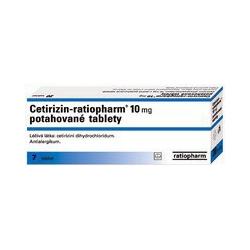 Cetirizin-ratiopharm 10 mg tbl flm 7x10 mg