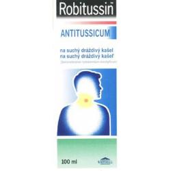 ROBITUSSIN ANTITUSSICUM na suchý kašeľ, sirup 100 ml / 150mg