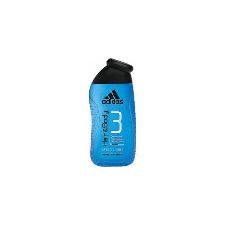Adidas Hair & Body 3 After Sport - sprchový gél na telo a vlasy 250 ml