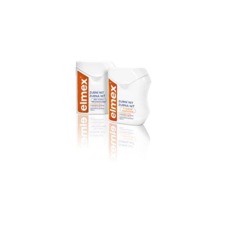 Elmex Dentálna niť nevoskovaná 50m s aminofluoridom