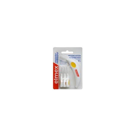 Elmex Medzizubné kefky 7mm - 4ks bal žltá