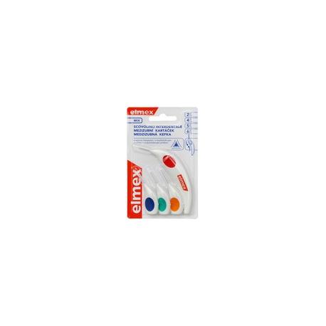 Elmex Medzizubné kefky MIX - 2,4,5,6mm 4ks