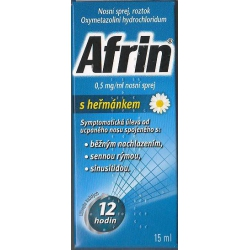 Afrin 0,5 mg/ml nosový sprej s harmančekom 15 ml