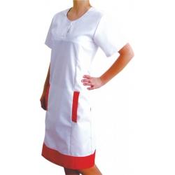 Šaty CINTIA 42 biela/modrá - skladom ihneď k odberu 1ks