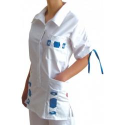 Halena KARIN 38 - bielo modrá kombinácia jeden kus skladom k odberu