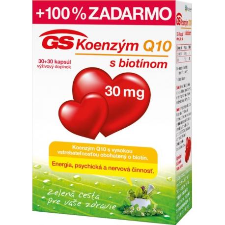 GS Koenzým Q10 30mg 30+30cps