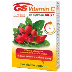 GS Vitamín C 1000 so šípkami AKUT 10ks