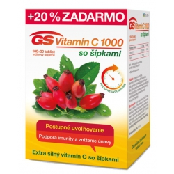 GS Vitamín C 1000 so šípkami 50+10tbl
