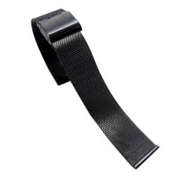 Kovový remienok k hodinkám šírka 22 mm čierny