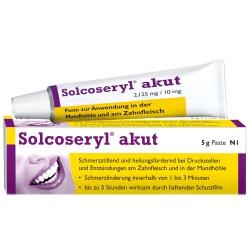 SOLCOSERYL akut Paste na bolesť zubov