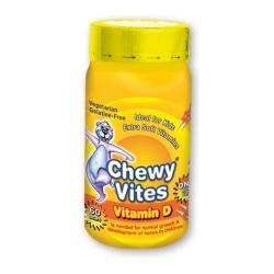 Chewy Vites Vitamín D pektínové medvedíky s príchuťou malín 1x60 ks