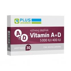 Plus lekáreň Vitamín A+D 5 000 IU/400 IU, 30 cps