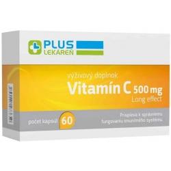 Plus lekáreň Vitamín C 500 mg, 60 cps