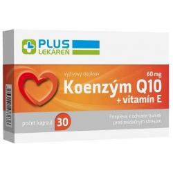 Plus lekáreň Koenzým Q10 60 mg + E, 30 cps