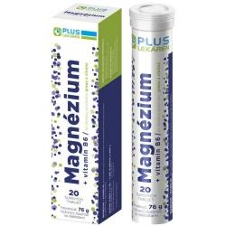 Plus lekáreň Magnézium + Vitamín B6 s príchuťou grepu a citróna, 20 šumivých tabliet