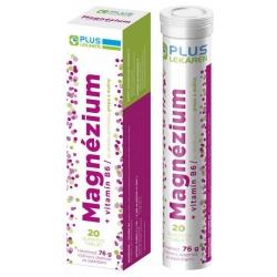 Plus lekáreň Magnézium + Vitamín B6 s príchuťou grepu a maliny, 20 šumivých tabliet