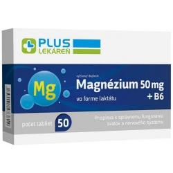 Plus lekáreň Magnézium 50 mg + B6, 50 tbl