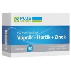 PlusLekáreň Vápnik + Horčík + Zinok 50 tabliet