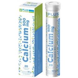 PLUS LEKÁREŇ Calcium 500 mg + vitamín D3 tbl eff s príchuťou grepu 1x20 ks