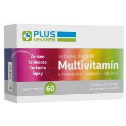 PlusLekáreň Multivitamín s minerálmi 60 tabliet