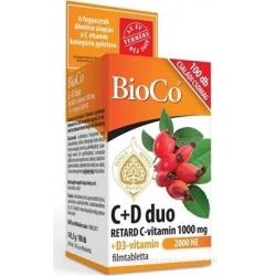 BioCo C+D duo RETARD C-vitamín 1000 mg + D3-vitamín 2000 IU tbl 1x100 ks