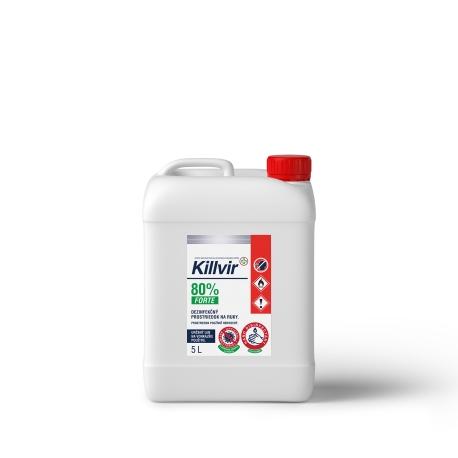 KillVir 80% 5l tekutá dezinfekcia rúk