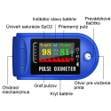 Pulzný oximeter SMART certifikovaná zdravotnícka pomôcka ISO 13485 + 2x AAA batérie