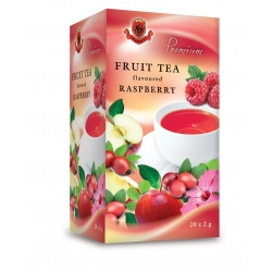 Hebrex premium Ovocný čaj s vôňou maliny 20x2g